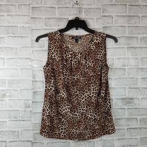 NWT Roz & Ali shirt blouse top animal print